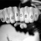 Banjo Boy Knuckle Tattoo