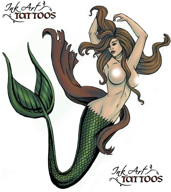 mermaid flash Mermaid Tattoo Flash