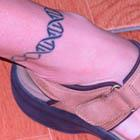 DNA Ankle Tattoo