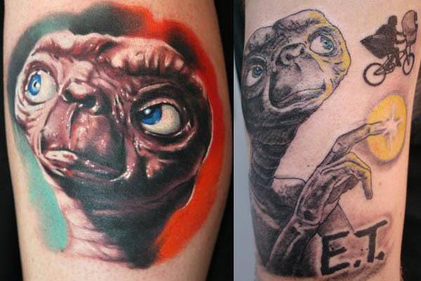 ET tattoos 80s Tattoos That Are Totally Rad