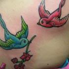 Swallows Tattoo Cover Up