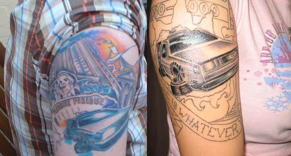 back to the future delorean tattoos 80s Tattoos That Are Totally Rad