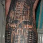 Biomechanical Leg Tattoo