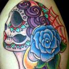 Mexican Sugar Skull Maiden Tattoo