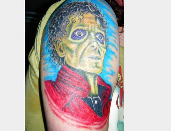 michael jackson thriller zombie tattoo 80s Tattoos That Are Totally Rad