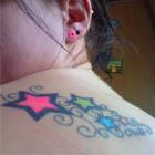 Neon Stars Tattoo