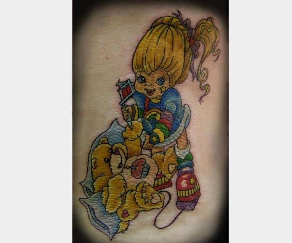 rainbow bright carebear tattoo 80s Tattoos That Are Totally Rad