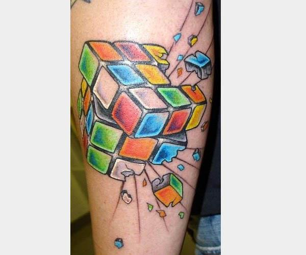 rubiks cube tattoo 80s Tattoos That Are Totally Rad