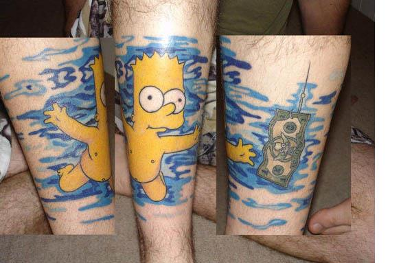 Bart Nevermind Tattoo Celebrate 20 Years of The Simpsons with 20 Tattoos