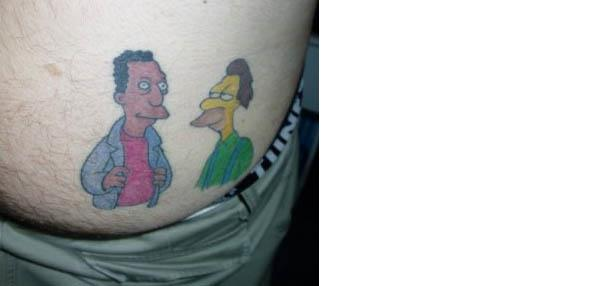 Carl Lenny Ass Tattoo Celebrate 20 Years of The Simpsons with 20 Tattoos