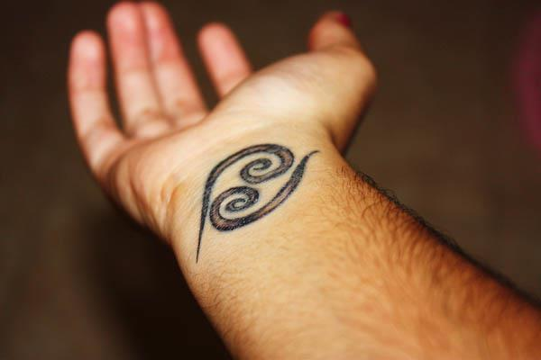 cancer sign tattoo pictures. with cancer zodiac sign