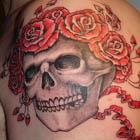 Grateful Dead Skull and Roses Tattoo