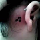 Music (Note) To My Ear Tattoo