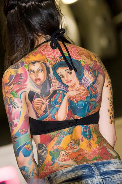 snow white disney back tattoo Snow White Back Piece