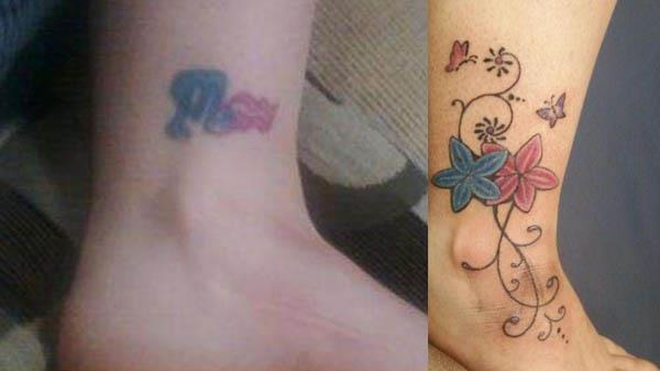 Boyfriend Girlfriend Zodiac Symbols Flowers Coverup Clever Cover Up Tattoos After The Break Up