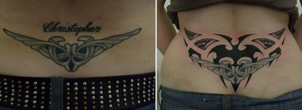 Christopher Tribal Tramp Stamp Cover Up Tattoo Clever Cover Up Tattoos After The Break Up