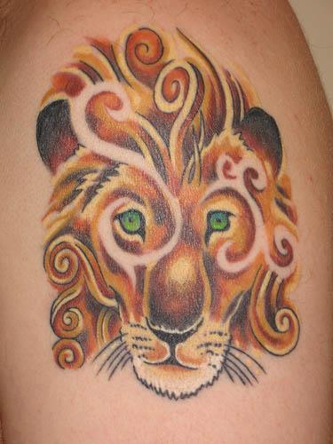 Nice Tiger Sleeve Tattoo By