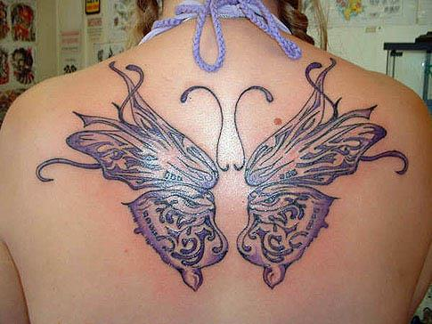 back butterfly wings tattoo Back Butterfly Wings Tattoo