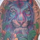 Blue &#038; Purple Tiger Tattoo
