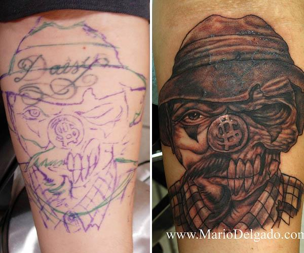 daisy zombie cholo cover up tattoo Clever Cover Up Tattoos After The Break Up
