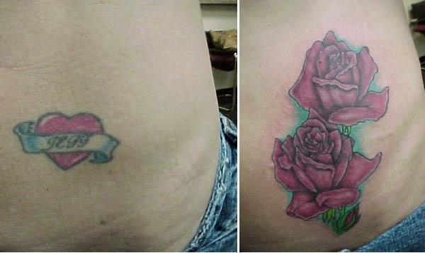 jeff heart roses cover up tattoo Clever Cover Up Tattoos After The Break Up