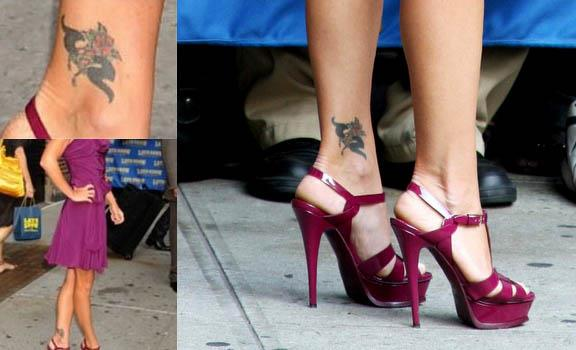 kelly ripa ankle rose tattoo Kelly Ripa Flower Ankle Tattoo