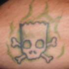 Simpsons Bart Skull &#038; Cross Bones