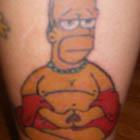 Simpsons Homer Buddha