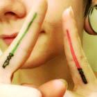 Star Wars Lightsaber Finger Tattoos