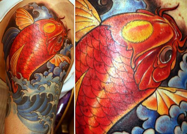 koi tattoo Traditional Koi