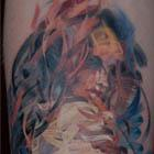 Woman of Ribbons Tattoo
