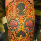 Lock and Key Sugar Skull Tattoo