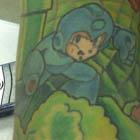 Retro Gaming Mega Man and Mario Tattoo Sleeve