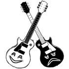 Comedy and Tradegy Guitars by Jen Chappell
