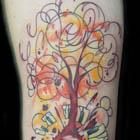 Funky Music Tree Tattoo