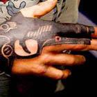 Handgun Hand Tattoo