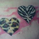 Animal Print Heart Tattoos