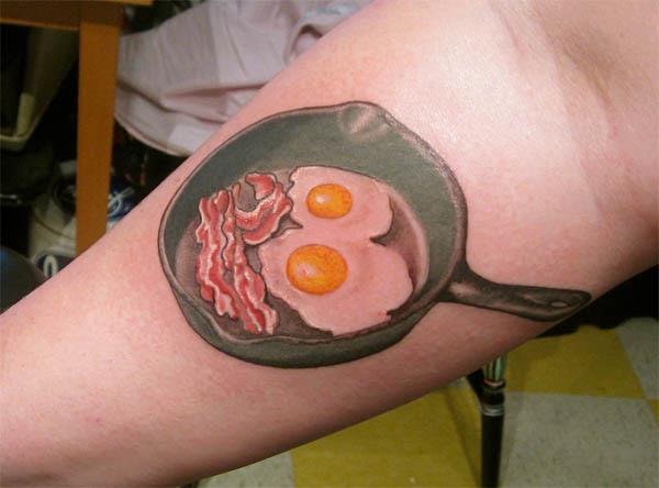 bacon and eggs skillet tattoo Bacon Tattoos Are Good For Me