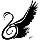 Black Wings Swan Tattoo Flash by 1estel