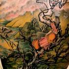 Girl in Cherry Blossom Tree Back Tattoo