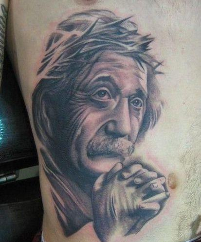 einstein jesus tattoo OMG! WTF Jesus Tattoos