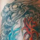 Fire &#038; Water Dragon Tattoo