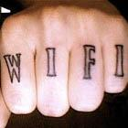 Free Wi-Fi Knuckle Tattoos