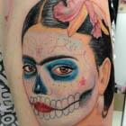 Frida Kahlo Sugar Skull Face Paint Tattoo