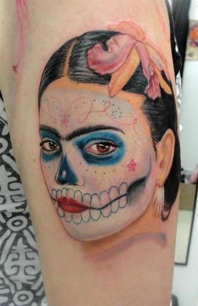 candy skull tattoo. candy skull tattoo.