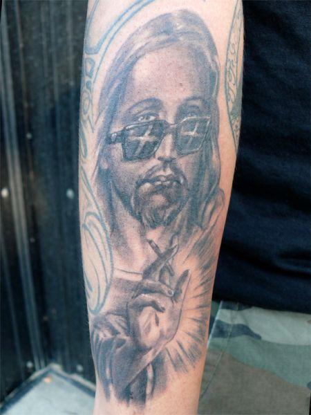 jesus é legal tatuagem OMG!  Tatuagens WTF Jesus