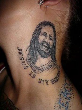 jesus é meu OMG acolhedora!  Tatuagens WTF Jesus