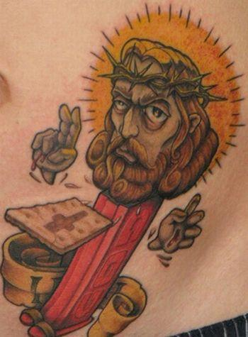 jesus pez tattoo OMG! WTF Jesus Tattoos