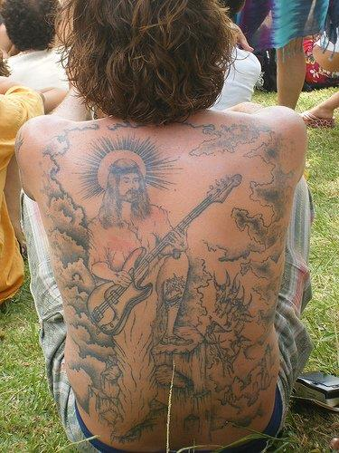 jesus rocks tattoo OMG! WTF Jesus Tattoos