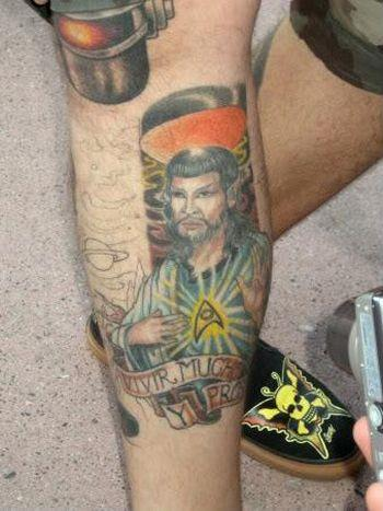 jesus spock tattoo design OMG! WTF Jesus Tattoos